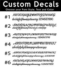 CUSTOM CAR STICKERS Script Style Writing Vinyl Name Lettering Bumper / Decals