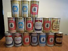Vintage lot of 16 Molson Canada Straight Steel Beer Cans Export Light Rare
