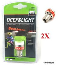 2x 12V LED REVERSE BEEPER BACK UP ALARM WARNING ALERT LIGHT BULB BUS VAN CARAVAN