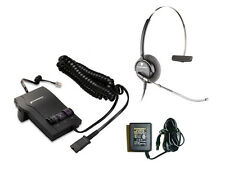 Plantronics Combo M12 Amplifier + H51 Voice Tube Headset + AC Adapter