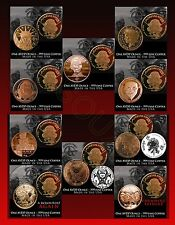Complete Set of 10 Zombie Coins Z Notes Apocalypse Z .999 Fine Copper Rounds A