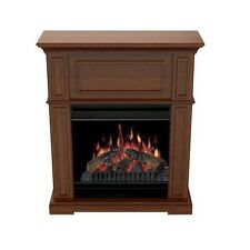 "Dimplex Compact Electric Fireplace Stove 20"" Firebox Carmel Finish"