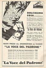 W7845 La Voce del Padrone - Nuovi prezzi Grammofoni - Pubblicità del 1929 - Ad
