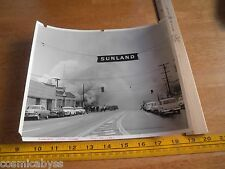 """Los Angeles Fire Department Store Sunland fire 1964 8x10"""" smoke apparatus"""