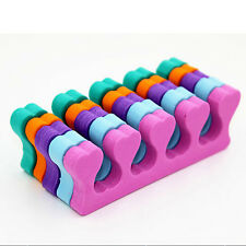 10x Soft-Sponge Foam Finger Toe Separators Nail Art Salon Pedicure Manicure Tool