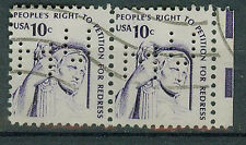 Briefmarken USA 1977 Petitionsrecht 1319 Paar Mi.Nr.