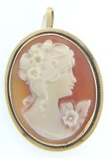 ESTATE 14 KARAT YELLOW GOLD CAMEO BROOCH / PENDANT APC-31-1 C3 VINTAGE