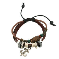 Fleur De Lis Tribal Leather Unisex Bracelet