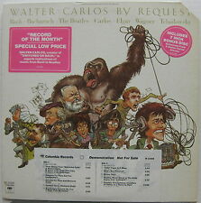 WALTER CARLOS By Request 1975 White Label Promo CLASSICAL LP Beatles + 7