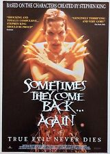 SOMETIMES THEY COME BACK / ORIGINAL VIDEO FILM POSTER / HORROR VINTAGE MOVIE 1