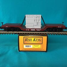 MTH O/O-27 30-7612 Depressed Flatcar with Transformer NIB