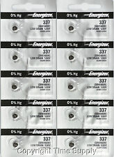 10 pcs 337 Energizer Watch Batteries SR416SW SR416 0% Hg