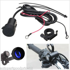 Motorcycle 12V 3A Dual USB LED Waterproof Mobile Phone GPS Charger Power Adapter