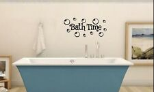 BATH TIME Bathroom Kids Wall Lettering Words Decal Vinyl Quote Sticker Decor 24""