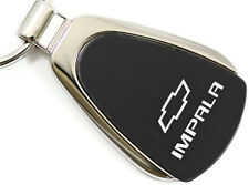 Chevrolet Chevy Impala Black Teardrop Authentic Logo Key Ring Fob Keychain
