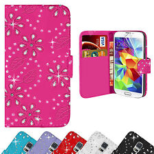 Bling Diamond Leather Wallet Case Cover For Samsung Galaxy S3 S4 S5 Mini Note