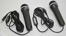 2 NEW Konami USB Game Microphones Xbox-360/1 PS4/PS3/PS2 Wii-U PC Logitech