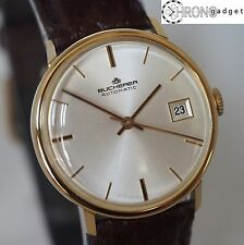 1960's Bucherer Automatic w/date  • Solid 18K • Original Box