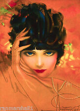 1920s Pin-Up Girl The Vamp Wolf Armstrong Picture Poster Print Art Pin Up