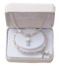 first communion gift set necklace and bracelet mm2590