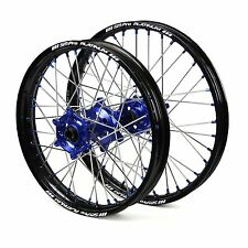 "Yamaha YZ125 YZ250 2013 2014 2015 2016 Wheels Set Blue Black 19"" 21"" Rims"
