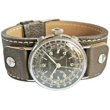 21mm Fluco Vigo German Mens Brown Riveted Cuff Leather Pilot Watch Band Strap