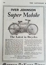 1928 Iver Johnson Arms & Cycle Works Super Mobike Bicycle Original Ad