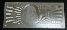 100 Dollar Silver - New Usa Bill, Each In Bill Holder Great Collectible Gift.