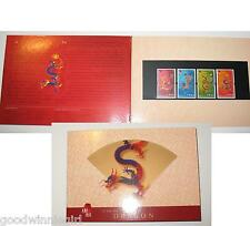 2000 Hong Kong Year of the Dragon Stamp Presentation Pack`x