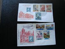 SAINT-MARIN - 2 enveloppes 1er jour 1959 (cy68)