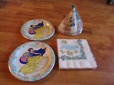 4pc Lot Contempo Snow White Floral Birthday Party Goods Multi-color NOS