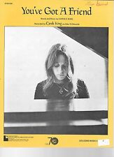 CAROLE KING at Piano Sheet Music YOU GOT A FRIEND James Taylor #1 HOT 100 HIT