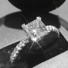 Fine 14k White Gold Ring Diamond Engagement Rings 1.32Ct Ebay Diamond Rings