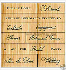 Wedding 2 ~ ANNA GRIFFIN Wood Mount Rubber Stamp Set 2 of 2 #47200 Love Phrases