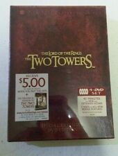The Lord Of The Rings - The Two Towers 4DVD Set Special Extended DVD Edition New