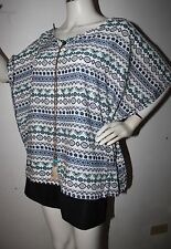 dgoodthings:bangkok slip-on square blouse w/beads,feathers & tie details(L-XL)