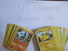 50 Pokemon Card Lot (Common & Uncommon Pokemon Cards)