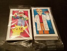 Sealed Pokemon Monopoly Replacement Parts  Professor Oak / Trainer Battle Cards