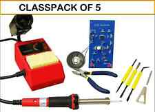 (CLASSPACK OF 5) Elenco  SK-175 Deluxe Learn To Solder DIY Kit With Tools