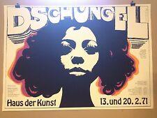 PLAKAT FASCHING MÜNCHEN 1971 DSCHUNGEL HAUS DER KUNST 70ER JAHREE