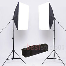 2x135W Photography Studio Softbox Continuous Lighting Soft Box Light Stand Kit