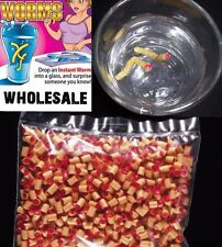 1000 Instant Maggot Worms Joke Gag Gift Trick Joke Prank Drink - wholesale bulk