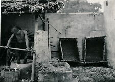 INDOCHINE c. 1935 - Fabrication du Papier - DIV 7008