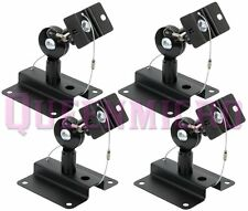 4 Pcs Set Heavy Duty Steel Adjustable Speaker Ceiling Wall Mount Brackets 33 lbs