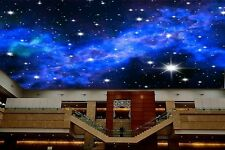 3D Wallpaper Mural Night Clouds Star Sky Wall Paper Background Interior Ceiling