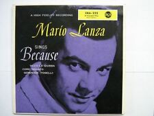 MARIO LANZA EP GERMANY SINGS BECAUSE