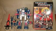 Transformers G1 VINTAGE Fortress Maximus WHITE complete w/box all inserts +bonus