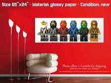 LEGO NINJAGO CHARACTERS collectible poster wall art kai jay cole nya zane R