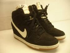 Nike Womens sz 9 40.5 Dunk Sky Hi Essential Shoes Black White Wedge Sneakerboot