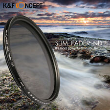 SLIM 58mm Fader ND Filter Adjustable ND4 ND2 to ND400 For Canon EOS 550D 650D
